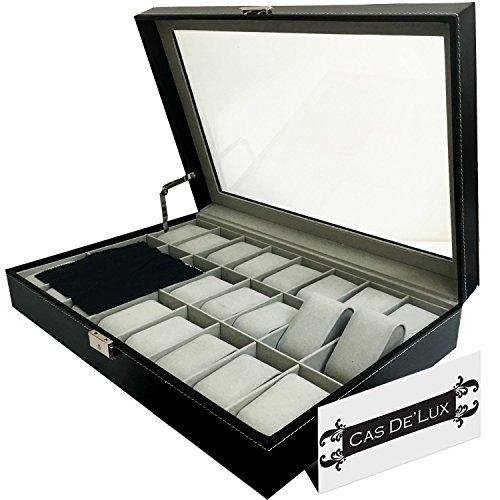 organizador de caja de reloj funda de almohada: vitrinas