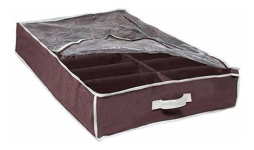 organizador de calzado bajo cama