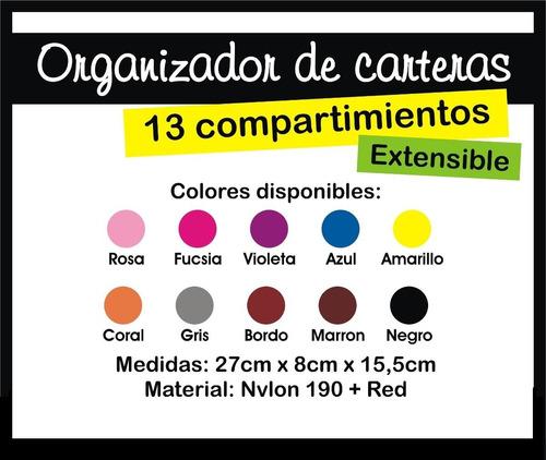 organizador de cartera bolso postacosmeticos varios colores