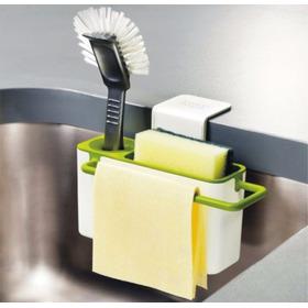 Organizador De Cocina 3 En 1 Porta Esponja - Porta Cepillo