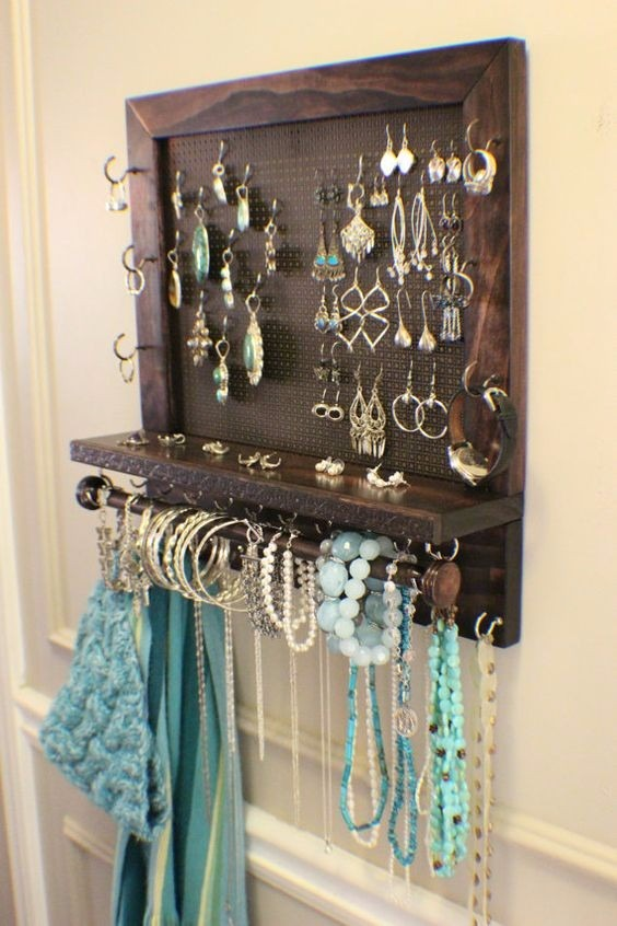 Organizador de collares aretes y pulsera marco para collar en mercado libre - Colgador de collares ikea ...
