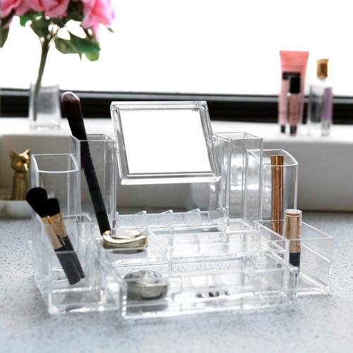 organizador de cosmeticos en acrilico fino entrega inmediata