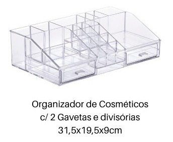 organizador de cosméticos,batom,esmalte 2 gavetas 1122