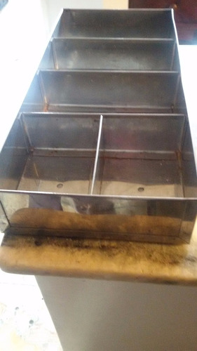 organizador de cubiertos de acero