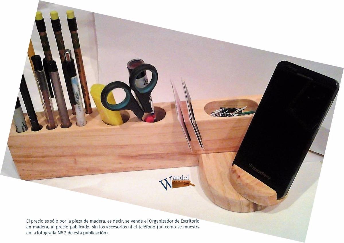 Organizador de escritorio de madera con holder para celular bs en mercado libre - Organizadores escritorio ...