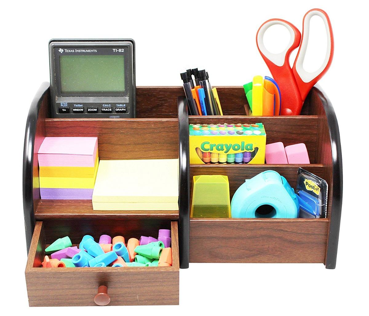 Organizador de escritorio de madera para oficina cherry b - Escritorios de madera para oficina ...