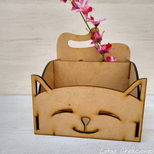 organizador de escritorio lapicero gatito -corte láser-