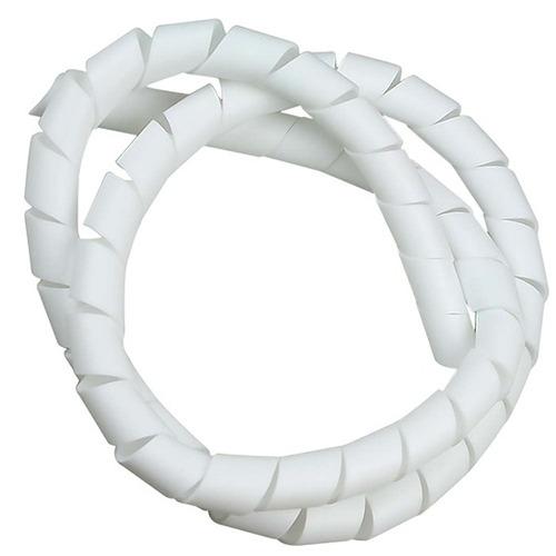 organizador de fios cabos 6,4mm 1/4 3 metros branco