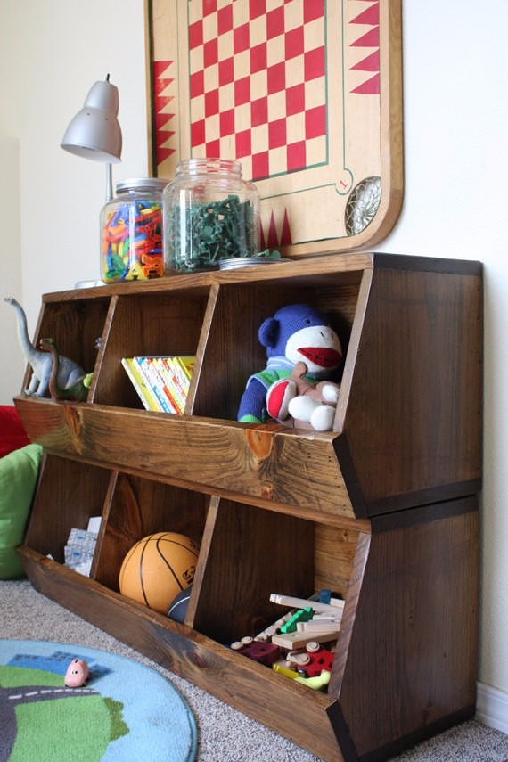 Organizador de juguetes ba l caja madera mueble env os en mercado libre - Mueble organizador de juguetes ...