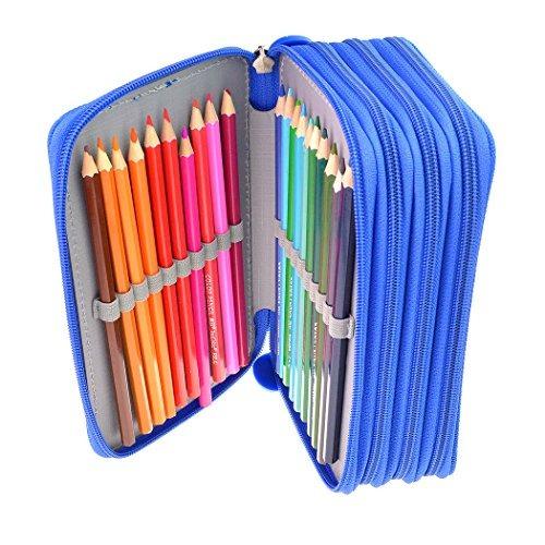organizador de lápices ishua portable de 72 ranuras