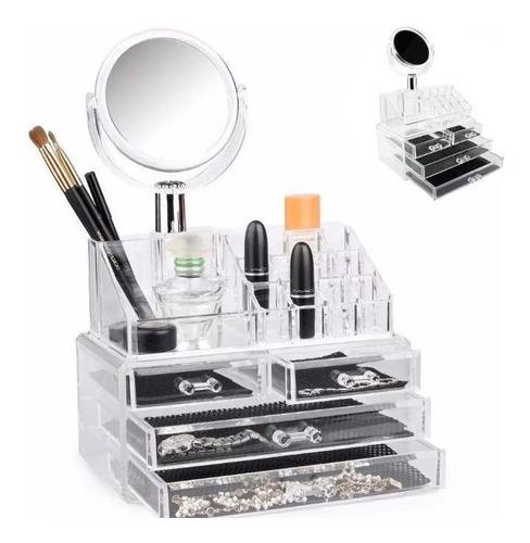 organizador de lujo para maquillaje tipo cristal cosméticos