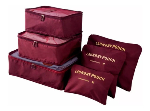 organizador de mala bolsa kit 6 peças para viagem. ref: 670