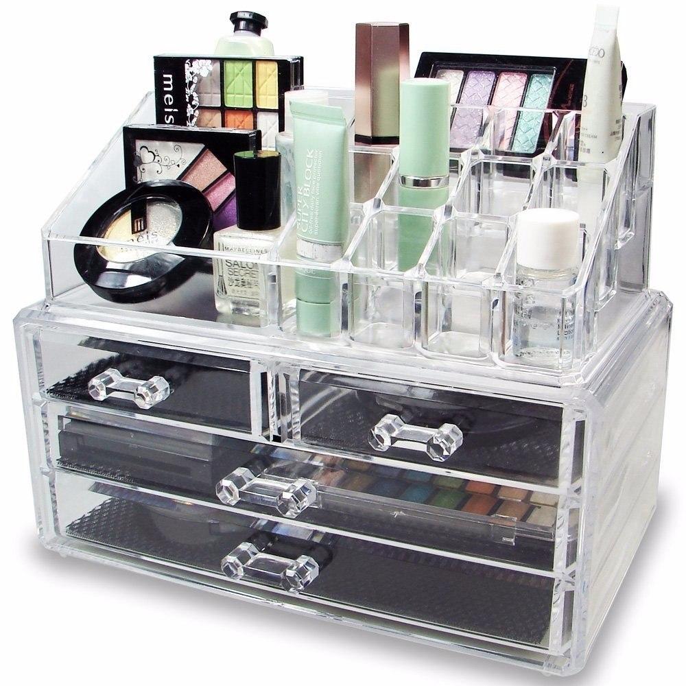 Organizador de maquillaje de acrilico en for Organizador de cocina accesorios
