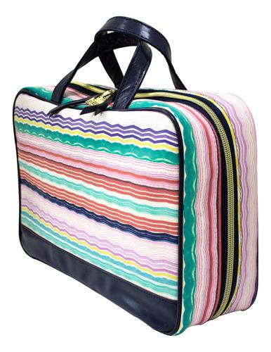 organizador de maquillaje maletin  wavy stripes a014934gumx