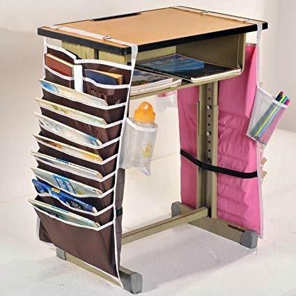 organizador de mesa portatil escolar escritorio porta livros