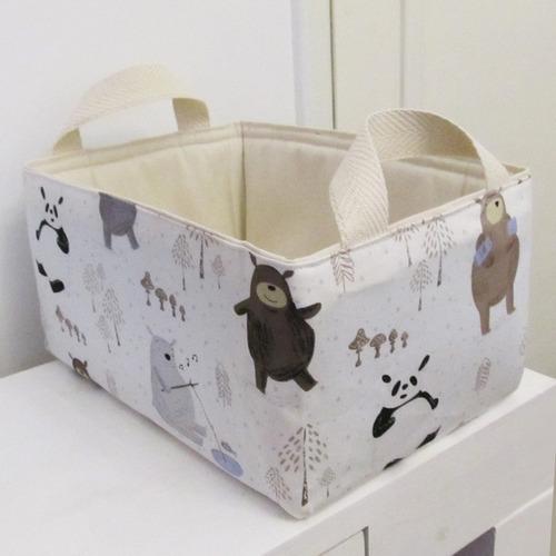 organizador de pañales bebes pañalero cesto tela unicornio
