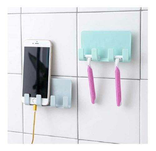 organizador de pared plástico porta celular y objetos