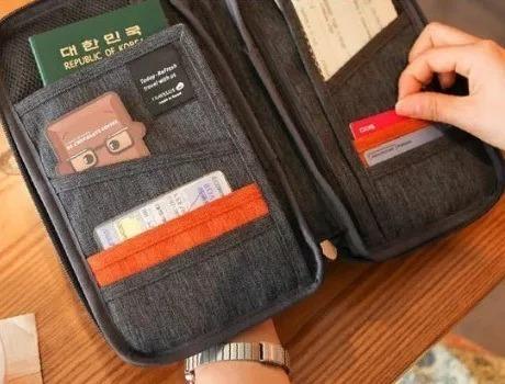 organizador de pasaporte documentos imp.premium city-ventas