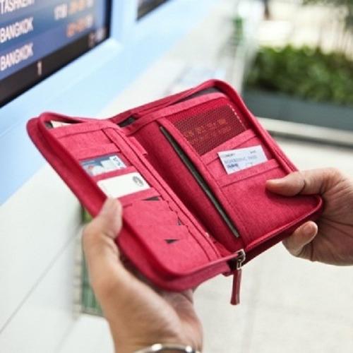 organizador de pasaporte tarjetero ideal viajes city-ventas