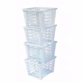 organizador de plastico 4 estantes con ruedas