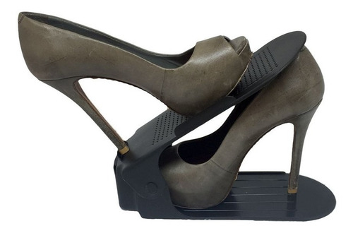 organizador de sapato rack 50 un preto regulagem de altura