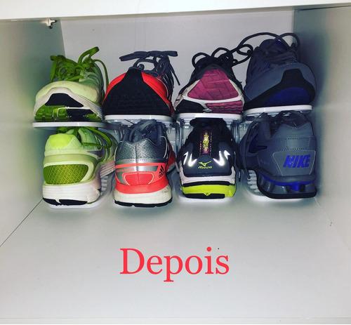 organizador de sapatos rack ajustável (kit com 10 unidades)