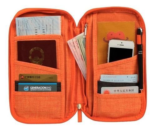 organizador de viaje all in one porta pasaporte travelus