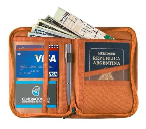 organizador de viaje pocket porta pasaporte tarjetas color
