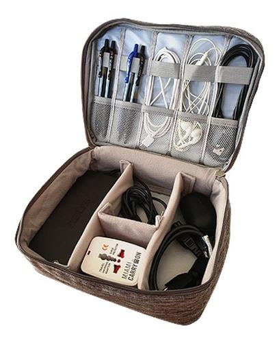 organizador de viaje valija electrónica cable gopro cargador