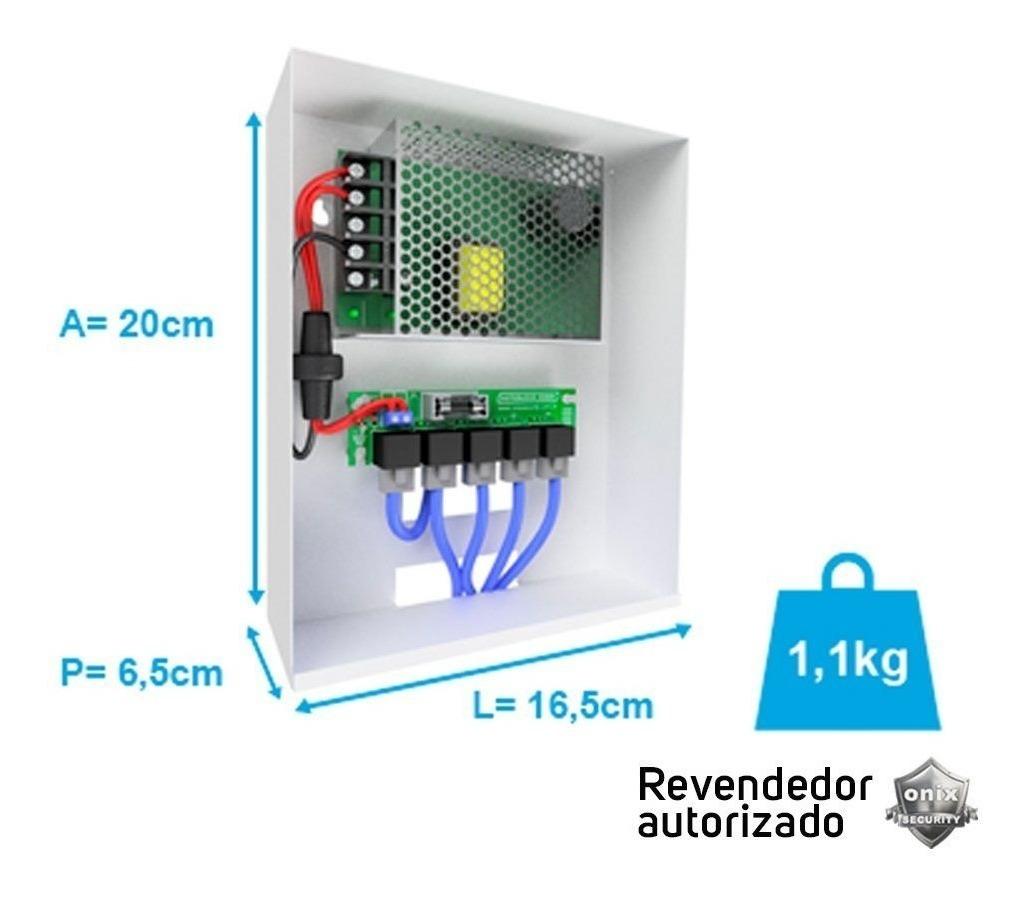 3b0ea00d1 Organizador Distribuidor Vídeo 4x1 Onix C/ Fonte 12v 5a Full - R ...