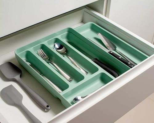 organizador divisor porta talheres extensível cozinha gaveta