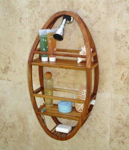 organizador ducha teca ovalado moa patentado