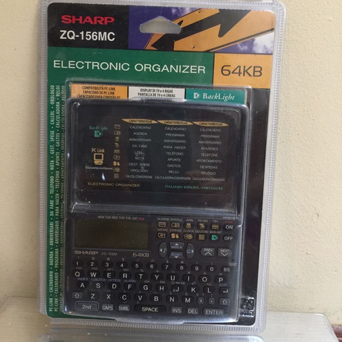 organizador electrónico- sharp 64k