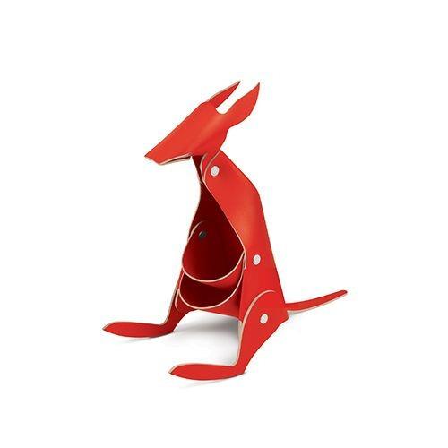 organizador escritorio cuero ecológico rojo varios- belgrano