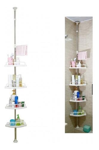 organizador esquinero de baño multi-uso 4 repisas ajustables