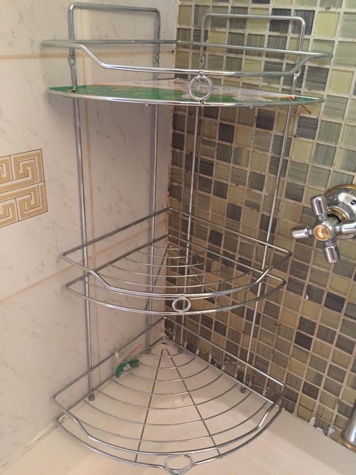 organizador esquinero para baño- ducha cromado 3 estantes. Cargando zoom. 9ce23d74388f