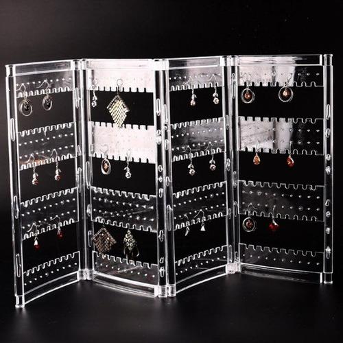 organizador expositor acrílico brinco corrente pulseira joia
