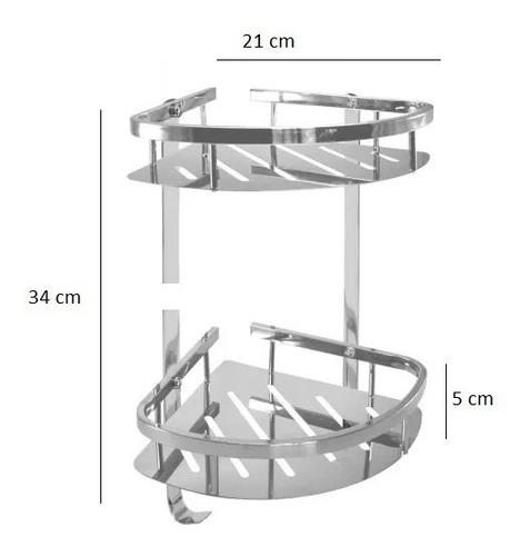 organizador ganchos aluminio esquinero baño aluminio