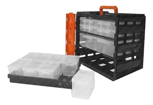 organizador gavetero en caja transportable tactix 36 div