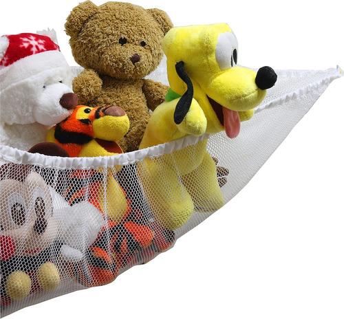 organizador hamaca de juguete de peluche, blanco