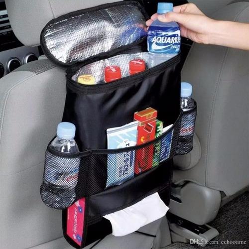 organizador hielera para asiento de auto coche termica