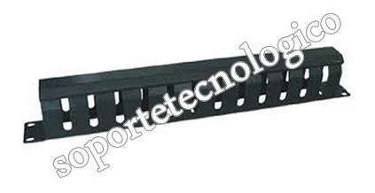 organizador horizontal para cables, 1u, para rack de 19