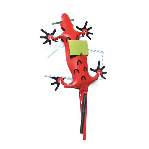 organizador lagarto cuero ecológico rojo imantado- belgrano