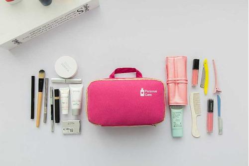 organizador maquillaje cosméticos hombre mujer viaje 3 en 1