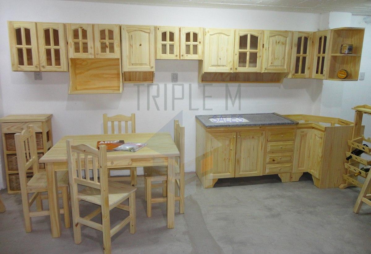 Despensero Organizador 0,80m Pino Macizo Muebles De Cocina - $ 2.350 ...