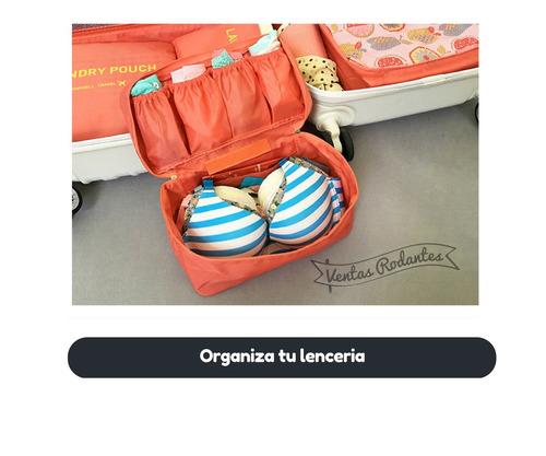 organizador neceser ropa interior lenceria multiuso viajes