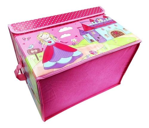 organizador niñas grande juguetes libros revistas rosa co1