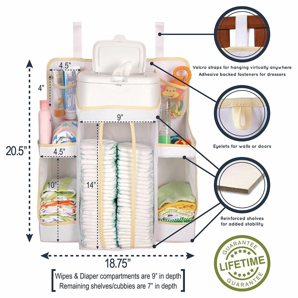 Organizador pa alero todo en uno para cuna cuarto de bebe en mercado libre - Organizador de cuna ...