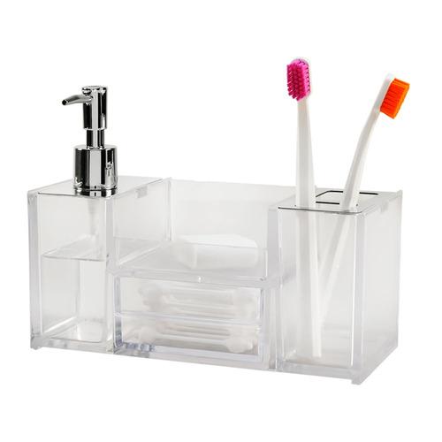 organizador para baño cristal