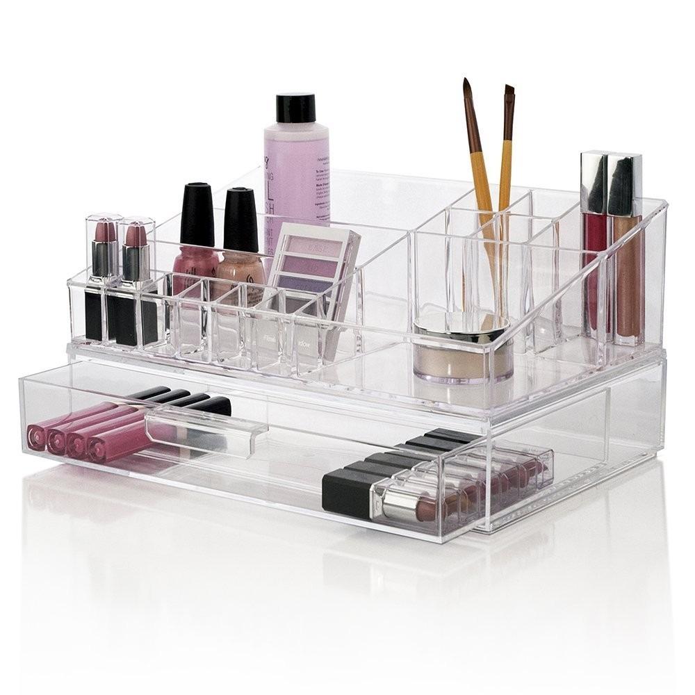 Estuche Organizador Maquillaje Cajas Y Alhajeros Para Relojes Y  ~ Organizador De Joyas Para Cajones
